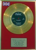 BEACH BOYS  - 24 Carat 7inch  Gold Disc   -  GOOD VIBRATIONS